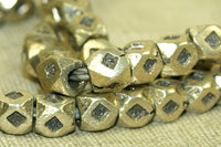 Strand of 4mm Silver Cornerless Cubes