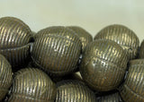 Strand of New Large Rounded Brass Beads from Nigeria