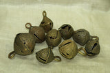 Set of Nine Large Funky Nigerian Brass Bells