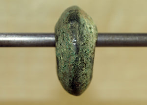 Antique West African Bronze Hair Ring with Green Patina