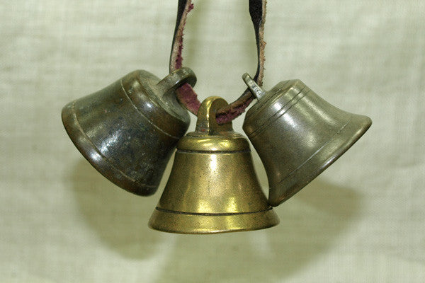 Set of Brass Cast Bells from Nigeria