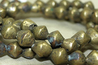 Antique Nigerian Cast Bicone Brass beads