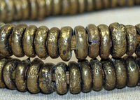 Strand of Rustic 10-11mm Nigerian Brass Rings