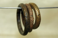 Nigerian Brass Ring with hatch marks