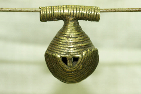 Antique Funky Brass Bell from Nigeria