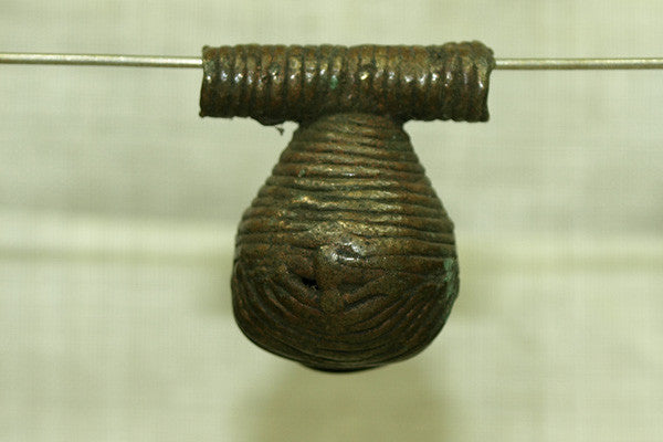 Antique Funky Dark Brass Bell from Nigeria