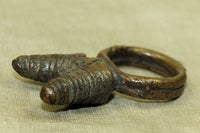 Rare Antique Double Phallic Bronze Ring from Cameroon