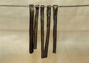 Antique Hollow Brass Stick Pendant from Cameroon