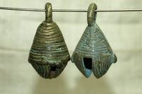 Set of Two Unusual Nigerian Brass Bells