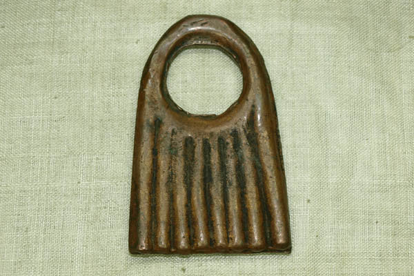Large Antique Coppery Bronze Pendant from Nigeria