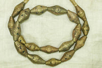 Strand Heavy Brass Bicone Beads from Nigeria