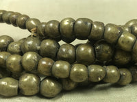 Strand of Antique Nigerian Brass Round Beads