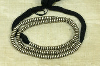 Necklace of Antique Silver Heishi from Ethiopia