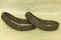 Pair of Antique Bronze Anklets from Cameroon
