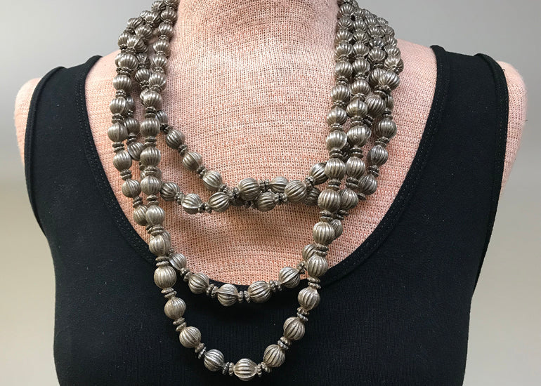 Amazing Old Coin Silver Necklace from India