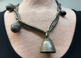 Thai-Burmese Bronze Heishi Strand with Big Bells!