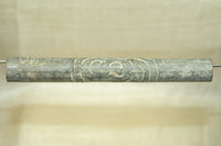 Cool Heavy Vintage Buddhist Prayer Scroll Tube