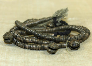 Thai-Burmese Bronze Heishi Strand with Small Bells