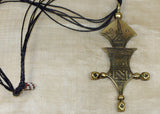 Solid Brass Tuareg Pendant Necklace