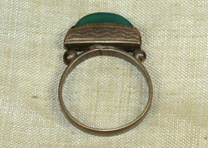 Tuareg Silver Hair Ring with Agate Setting