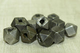 Antique Coin Silver cornerless cube Bead
