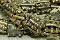 Strand of Cool Lumpy Brass Beads from Yemen
