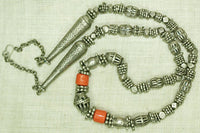 Antique Silver Bead Yemen Necklace