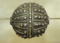 Large Fabricated Silver Bead from Yemen