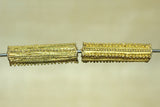 Pair of Yorbua Brass Fabricated Tube beads
