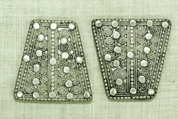 "Pair of Silver ""Cones"" from Yemen"