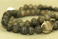 Strand of Vintage Yoruba Brass Beads