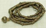 Yoruba Coiled Brass Wire Beads, strand