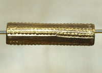 Fabricated Brass Tube Beads, Yoruba