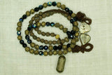 Yoruba Textured Brass Necklace, B