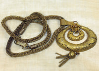 Vintage Yoruba Brass Necklace and Huge Pendant!