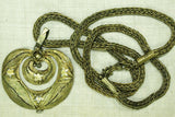 Vintage Yoruba Brass Necklace and Pendant