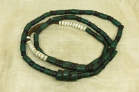 Antique glass bead necklace from Nagaland