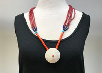 Vintage Nagaland Necklace with Whiteheart Beads