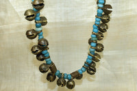 Vintage necklace of bells and beads from India
