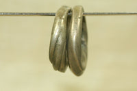 Pair of Antique Silver Twisty Hair Rings from Niger