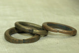 Thin Antique brass Hair Ring from Niger