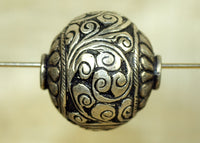New Large Sterling Silver Bead from Tibet