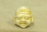 Antique ceramic Ojime bead  from Japan