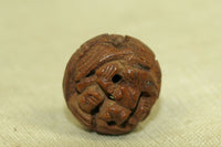 Antique rosewood ojime bead from Japan