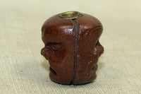 Antique Wood ojime bead from Japan