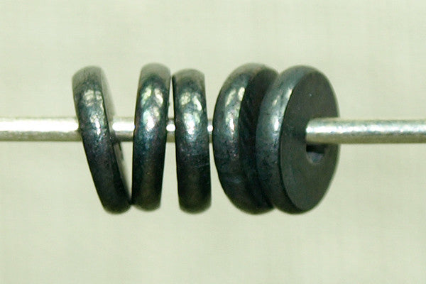 6mm Oxidized Sterling spacer