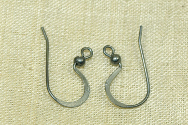 """French Curve"" oxidized silver Earwire, pair"