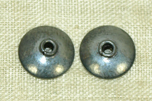 10mm Handmade Oxidized Sterling Bead Cap