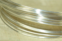 Round Sterling Silver Wire, 24 Gauge half-Hard
