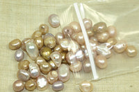 Small grab bag of coppery color Freshwater Pearls